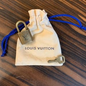 Authentic Louis Vuitton Padlock and Lock Set